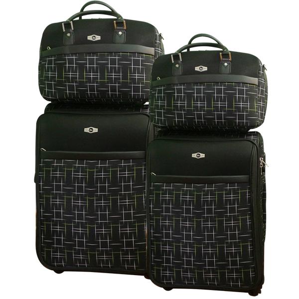 Комплект чемоданов Borgo Antico. BA 6055 black. 4 съёмных колеса.