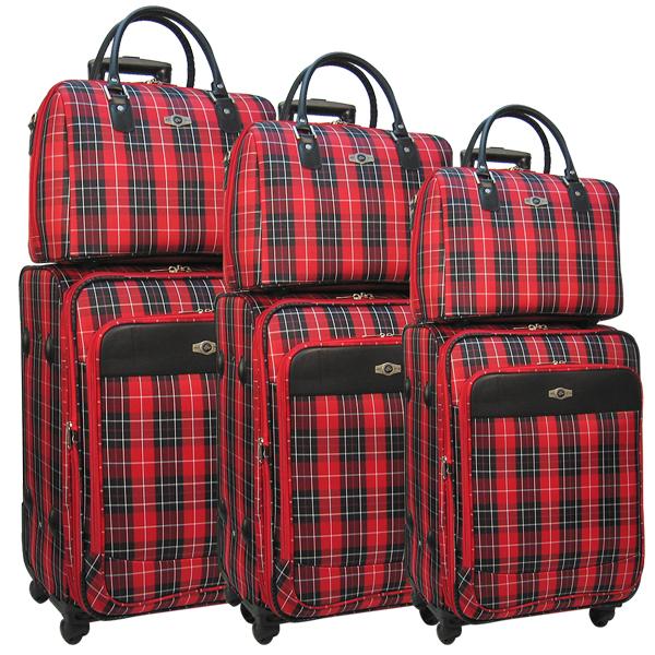 Комплект чемоданов Borgo Antico. 6093 red komplekt. 4 съёмных колеса.