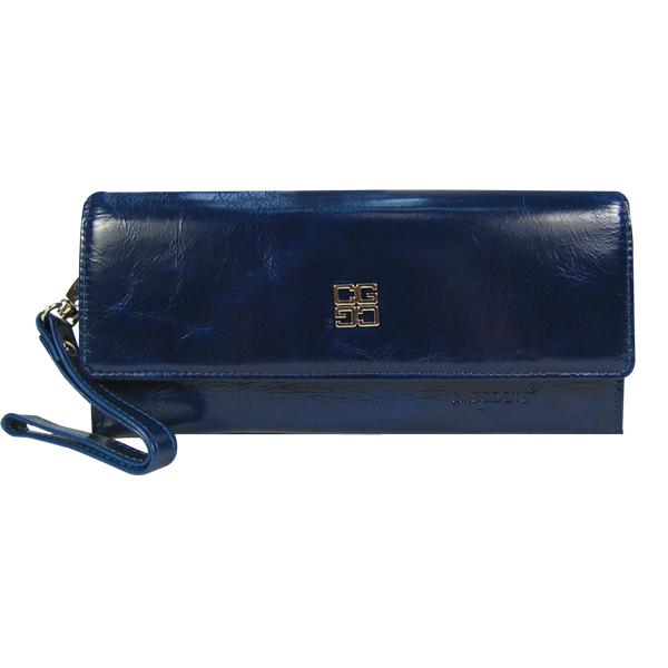 Сумочка-кошелёк Casgoote. Кожа. 6157 blue