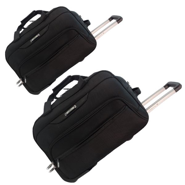 Комплект дорожных сумок Borgo Antico на колесах. 360 nabor black (19/22)