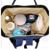 Сумка - рюкзак для мамы. 1888 blue