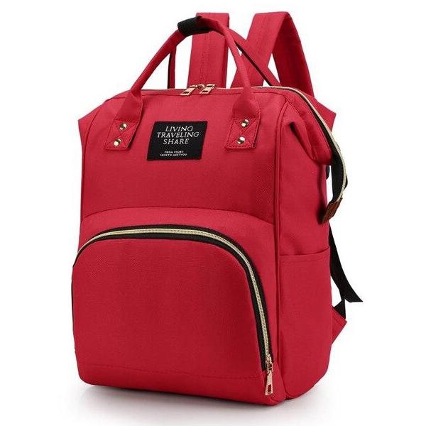 Сумка - рюкзак для мамы. 1888 red