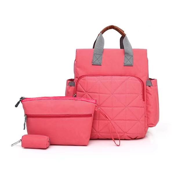 Сумка-рюкзак для мамы. 7758 pink