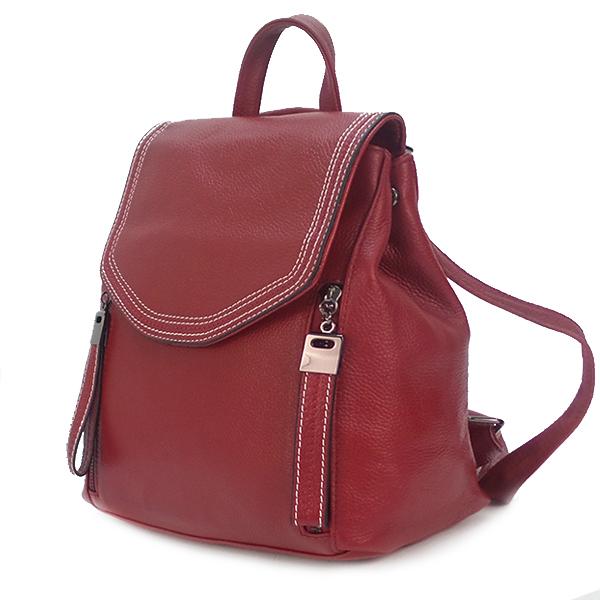 Рюкзак-сумка Borgo Antico. Кожа. 1898 red