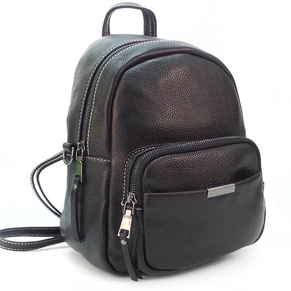 Рюкзак-сумка Borgo Antico. Кожа. 1905 black
