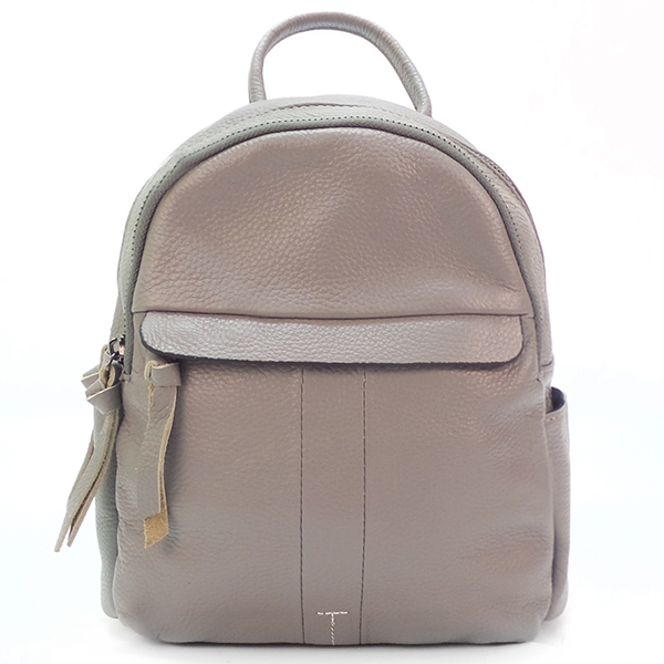 Рюкзак Borgo Antico. Кожа. 8138 light gray