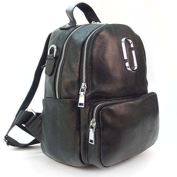 Сумка - рюкзак Borgo Antico. Кожа. T 9177 black