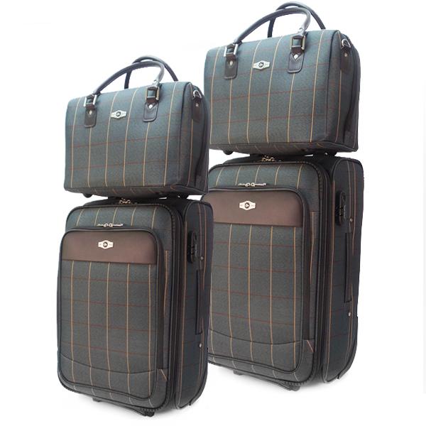 Комплект чемоданов Borgo Antico. 2093 grey (2 колеса)