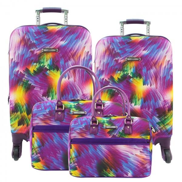 Комплект чемоданов Borgo Antico. BA 5011 purple