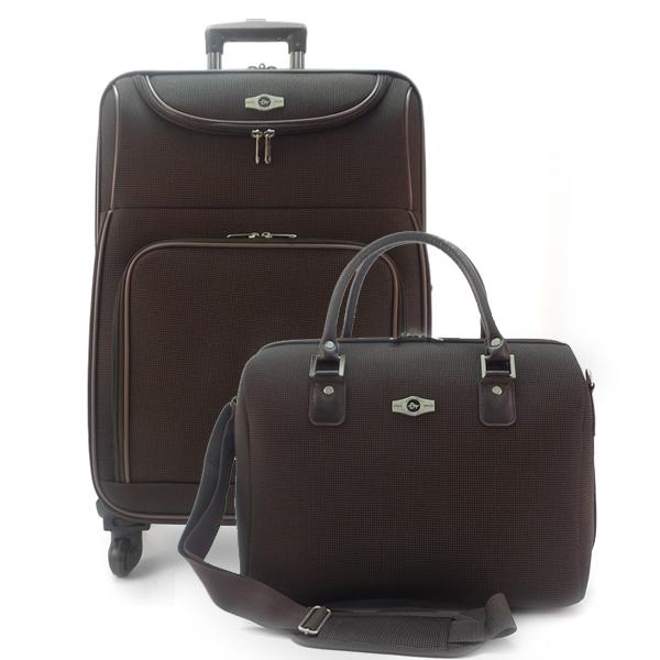 Набор: чемодан + сумочка Borgo Antico. 6088 coffee 26/18