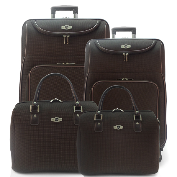 Комплект чемоданов Borgo Antico. 5088 coffee. 4 съёмных колеса.