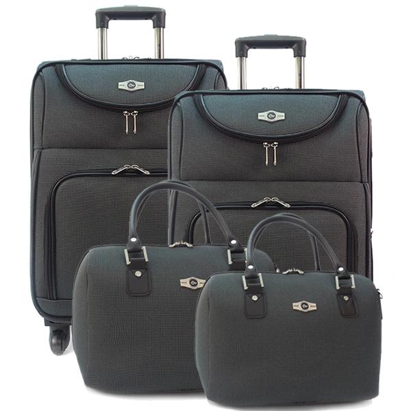 Комплект чемоданов Borgo Antico. 5088 grey. 4 съёмных колеса.