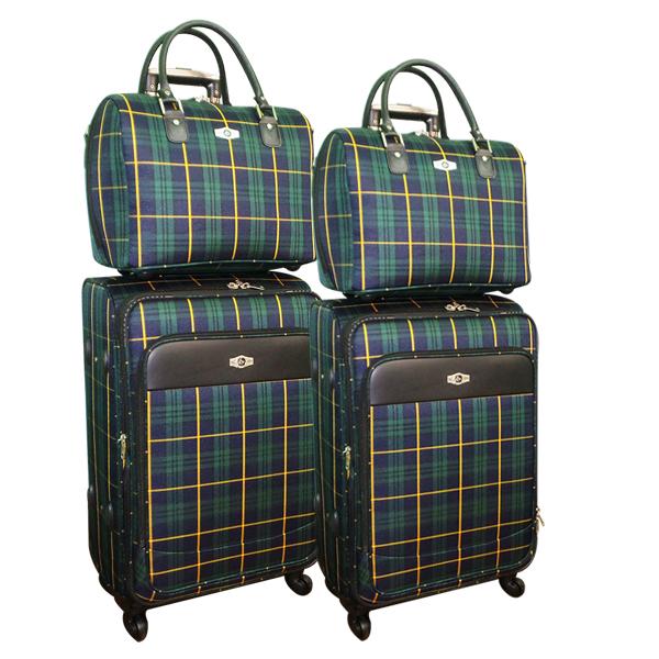 Комплект чемоданов Borgo Antico. 5093 blue green komplekt. 4 съёмных колеса.