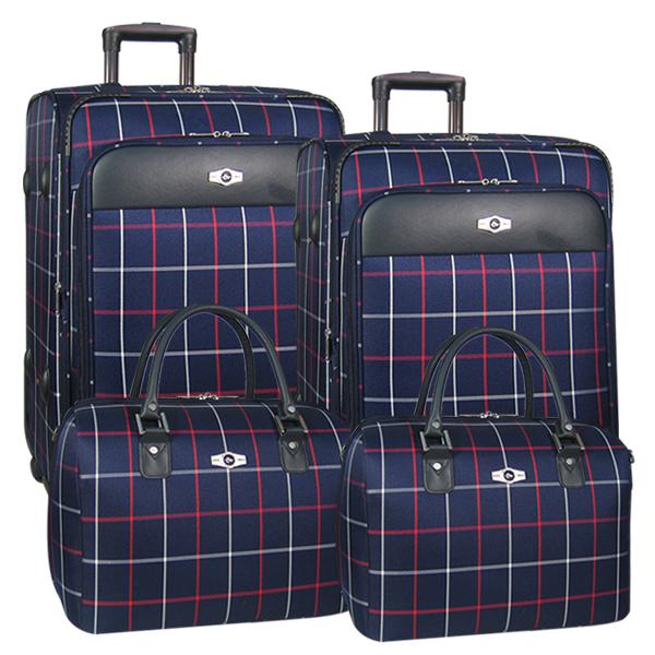Комплект чемоданов Borgo Antico. 5093 navy komplekt. 4 съёмных колеса.