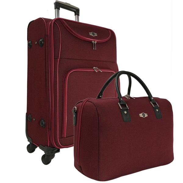 Набор: чемодан + сумочка Borgo Antico. 6088 burgundi 26/18