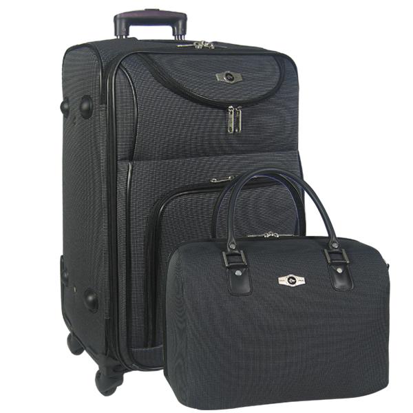 Набор: чемодан + сумочка Borgo Antico. 6088 grey 26/18