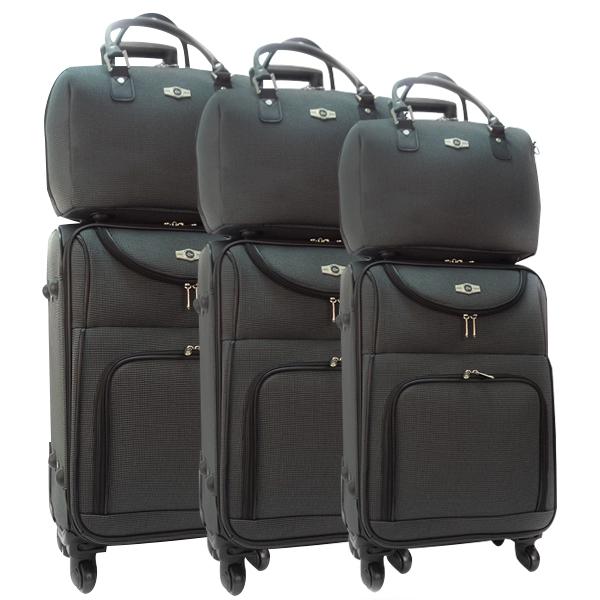 Комплект чемоданов Borgo Antico. 6088 grey. 4 съёмных колеса.