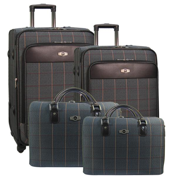 Комплект чемоданов Borgo Antico. 6093 (5093) grey komplekt. 4 съёмных колеса.