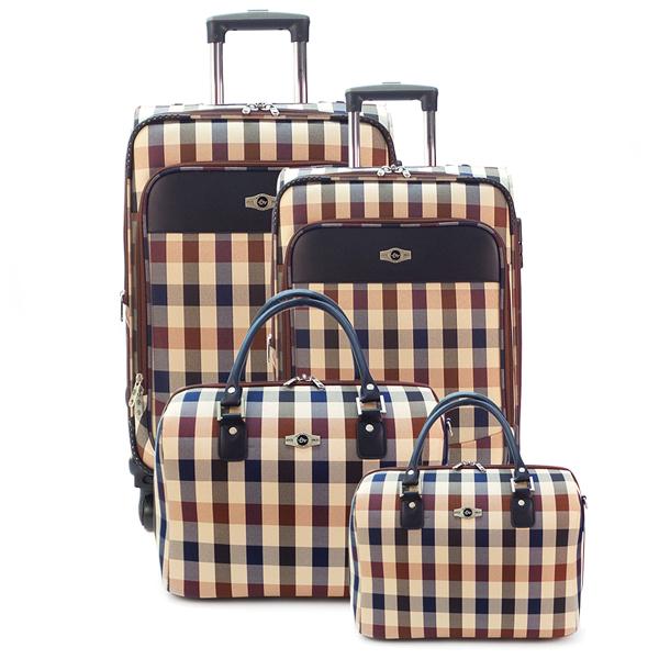Комплект чемоданов Borgo Antico. 6093 (5093) beige komplekt. 4 съёмных колеса.