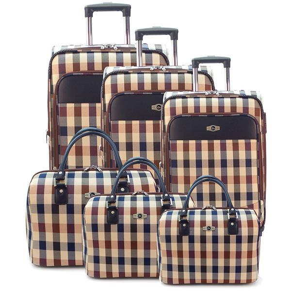 Комплект чемоданов Borgo Antico. 6093 beige (4 съёмных колеса)