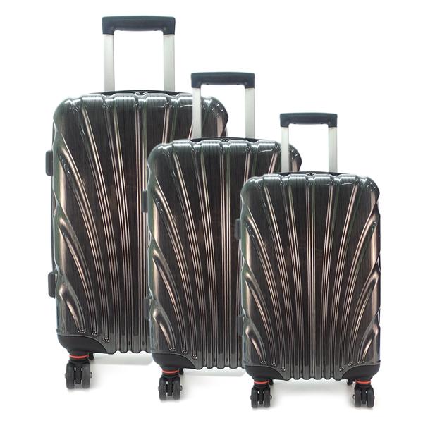 Комплект чемоданов. 8009-1 black