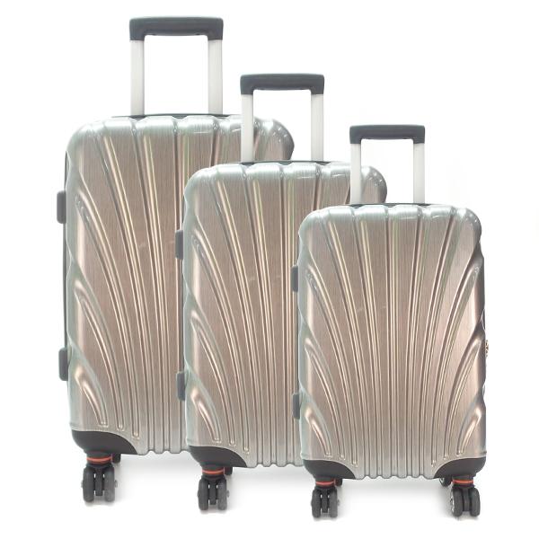 Комплект чемоданов. 8009-1 silver