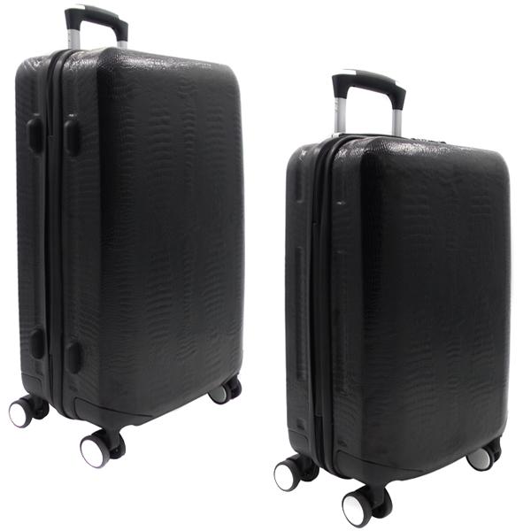 Комплект чемоданов Borgo Antico. ABS 8029 EY/609 black (4 колеса)