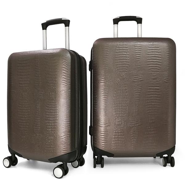 Комплект чемоданов Borgo Antico. ABS 8029 EY coffee (4 колеса)