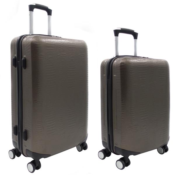 Комплект чемоданов Borgo Antico. ABS 8029 EY/609 coffee (4 колеса)