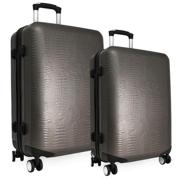 Комплект чемоданов. ABS 8029 EY grey (4 колеса)