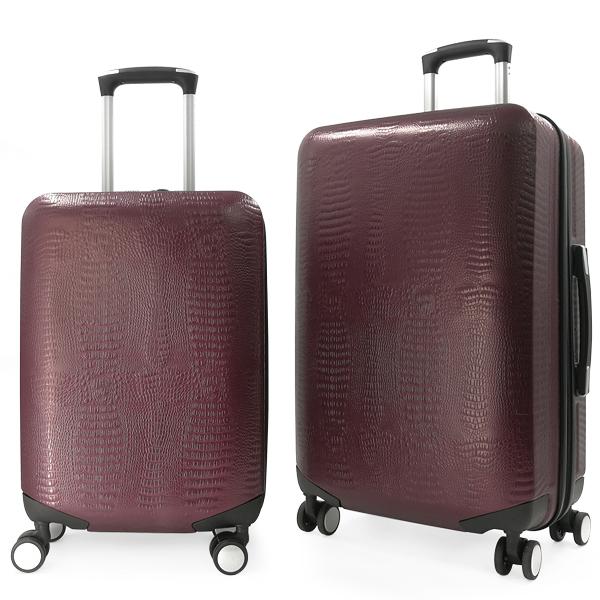 Комплект чемоданов Borgo Antico. ABS 8029 EY maroon (4 колеса)