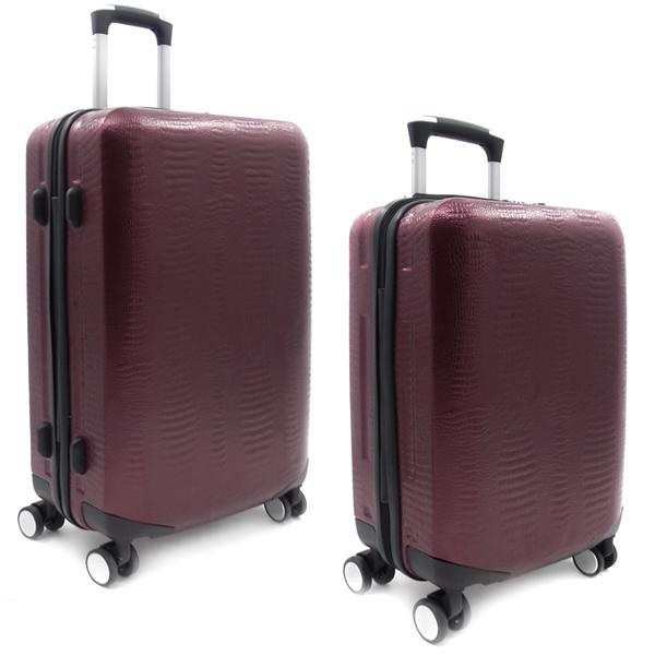 Комплект чемоданов Borgo Antico. ABS 8029 EY/609 maroon (4 колеса)