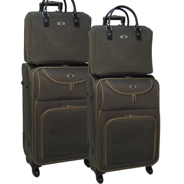 Комплект чемоданов Borgo Antico. 5088 brown. 4 съёмных колеса.