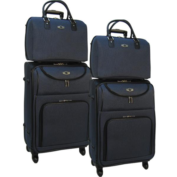 Комплект чемоданов Borgo Antico. 5088 dark blue. 4 съёмных колеса.