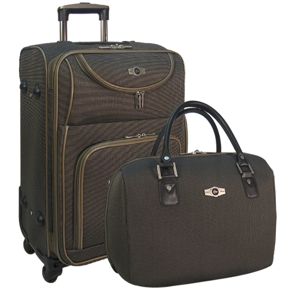 Набор: чемодан + сумочка Borgo Antico. 6088 brown 26/18