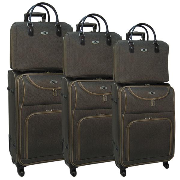 Комплект чемоданов Borgo Antico. 6088 brown. 4 съёмных колеса.