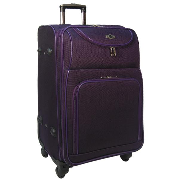 """Чемодан Borgo Antico. 6088 purple 26"""". 4 съёмных колеса."""