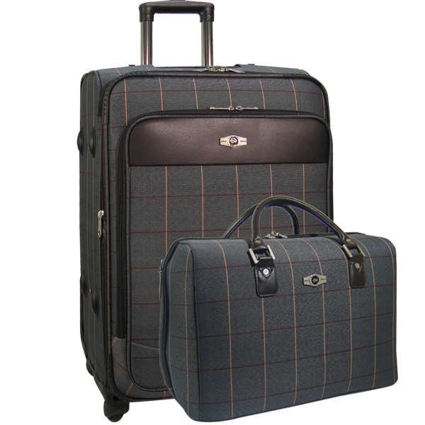 Набор: чемодан + сумочка Borgo Antico. 6093 grey 26/18