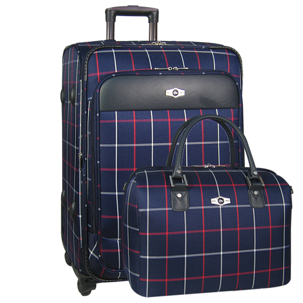 Набор: чемодан + сумочка Borgo Antico. 6093 navy 26/18