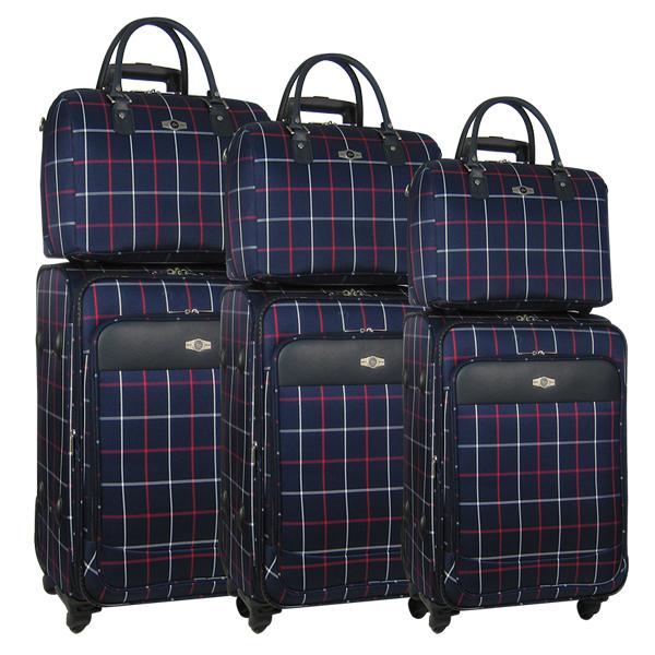 Комплект чемоданов Borgo Antico. 6093 navy komplekt. 4 съёмных колеса.