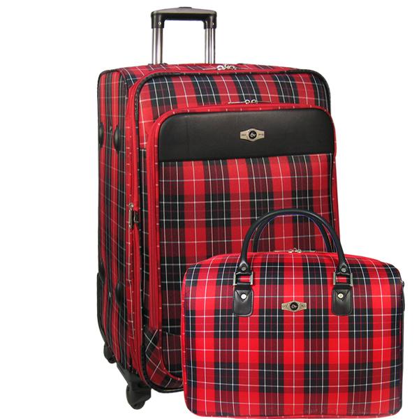 Набор: чемодан + сумочка Borgo Antico. 6093 red 26/18