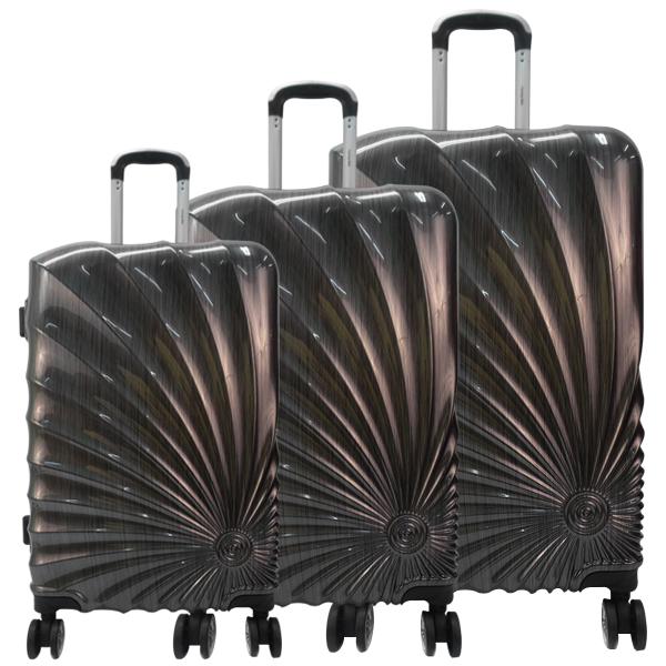 Комплект чемоданов. PC-001513 SL black komplekt