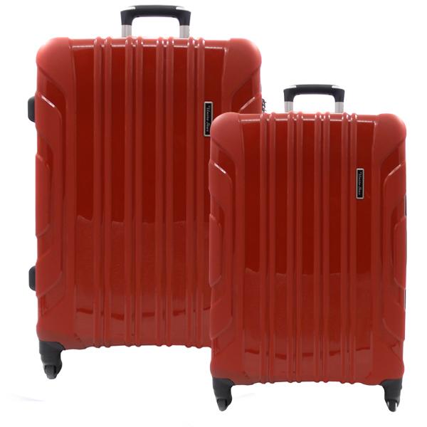 Комплект чемоданов. PP-02 red (4 колеса)