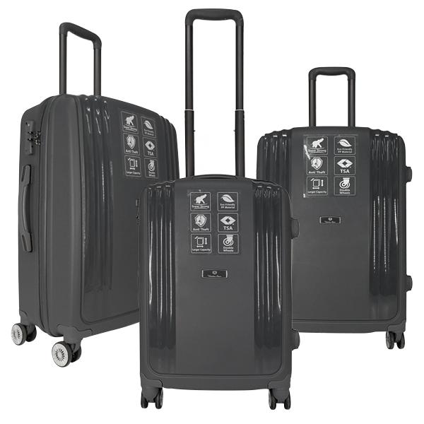Комплект чемоданов Unite Star. PP 03 grey (4 колеса)