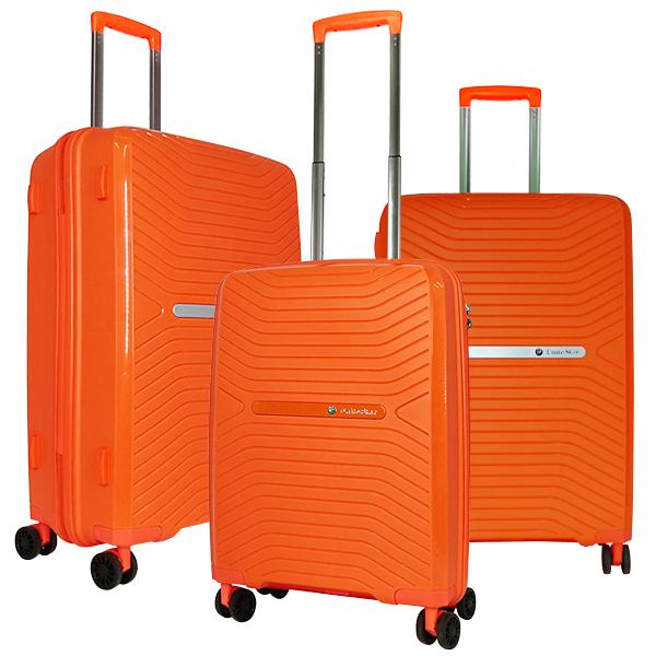 Комплект чемоданов Unite Star. PP 1901 orange (4 колеса)