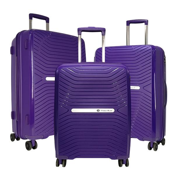 Комплект чемоданов Unite Star. PP 1901 purple (4 колеса)