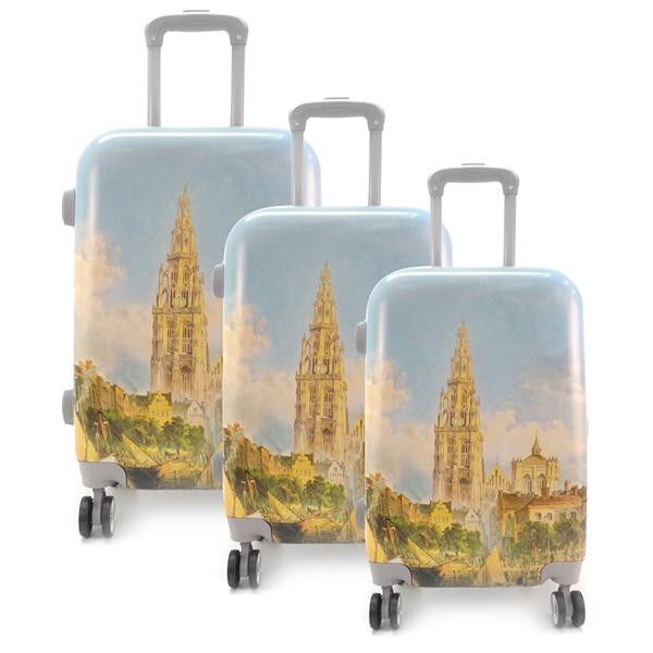 Комплект чемоданов. Yellow tower
