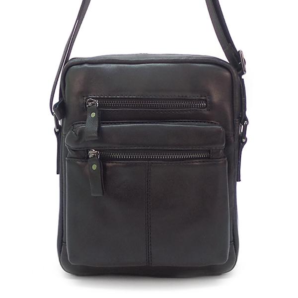 Мужская сумка Borgo Antico. Кожа. 0015 A black