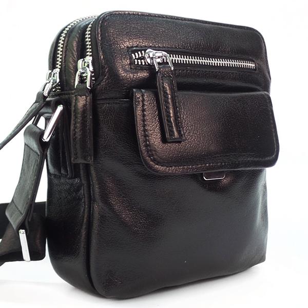 Мужская сумка Borgo Antico. Кожа. 0100-1 black