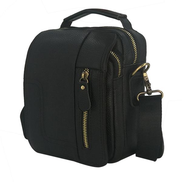 Мужская сумка Borgo Antico. Кожа. 020 black